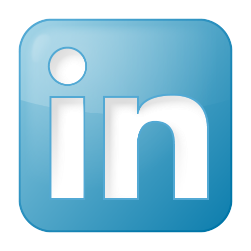 social linkedin box blue 512